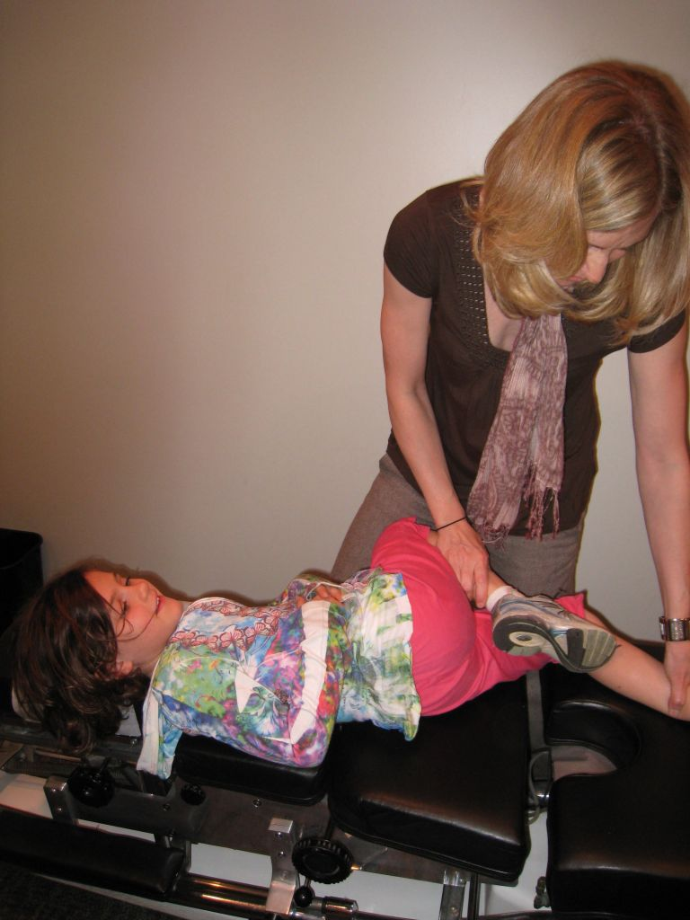Dr. Amy Gramzow adjusting